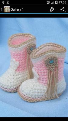 Crochet Pattern Baby Boots - screenshot