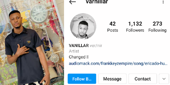"""[Ent.News] Multi-talented Afrobeat artiste """"Frankkeyz"""" Changes His Official Name to """"Vanillar"""""""