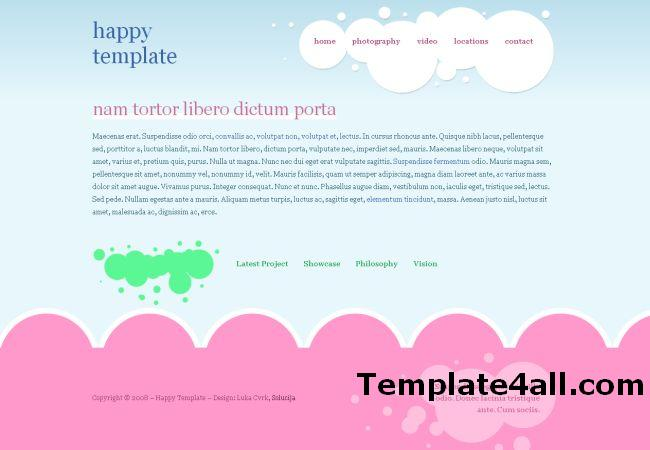 Cloudy Pink Blue CSS Website Template