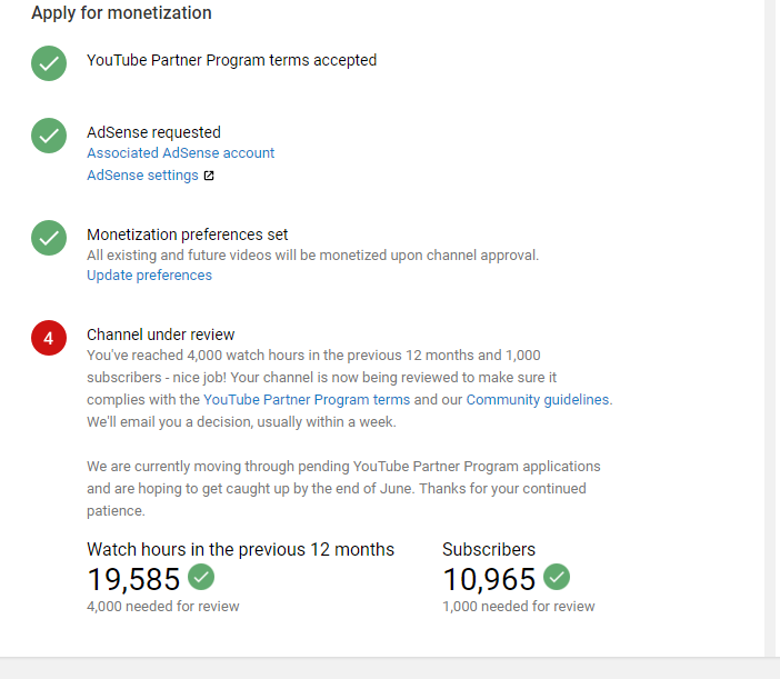 why my monetization not enabled ? - YouTube Help