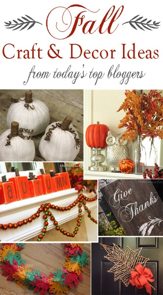 Fall Craft and Decor Ideas from Today s Top Bloggers