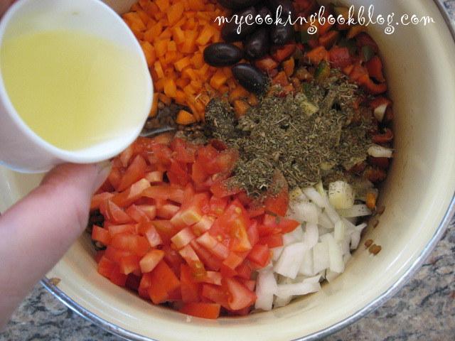 Леща яхния с маслини и сирене