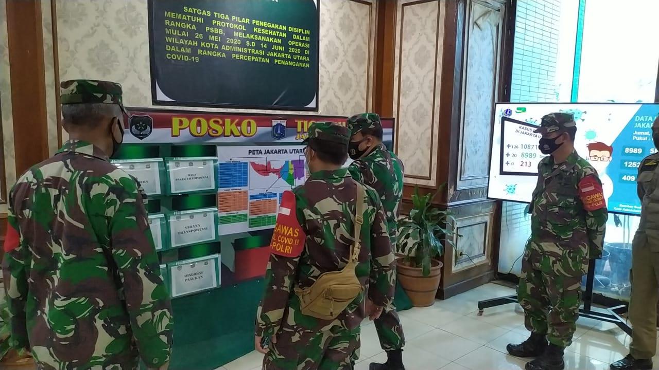 Pengawas Dari Kodam Jaya Tinjau Langsung PDMPK Moda Transportasi Wilayah Jakarta Utara