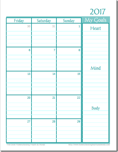 a year to sparkle planner calendar page 2 mon to sun