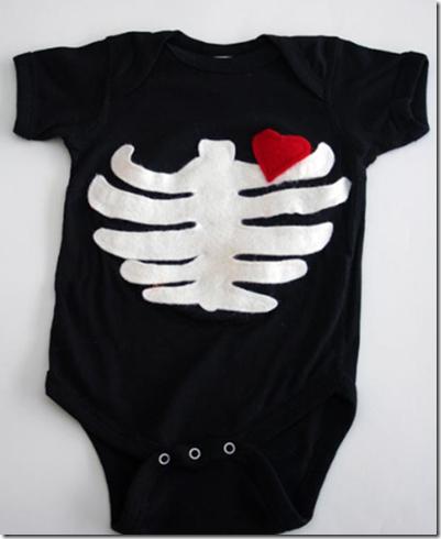 esqueleto disfraz bebe