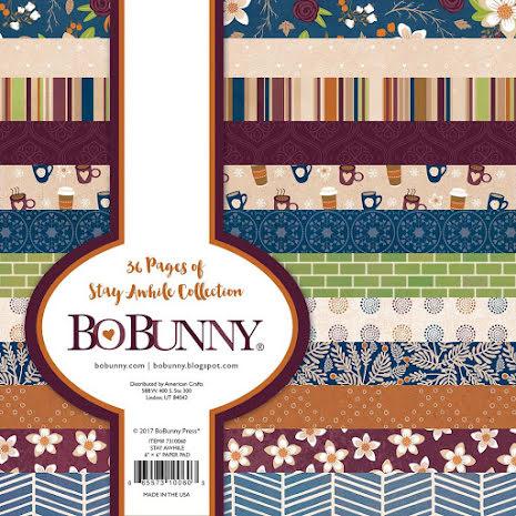 BoBunny Paper Pad 6X6 36/Pkg - Stay Awhile UTGÅENDE