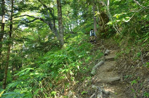 焼岳への急登