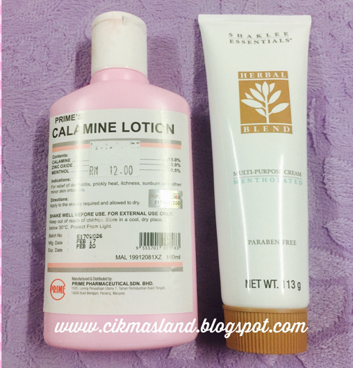 herbal blend dan calamine lotion