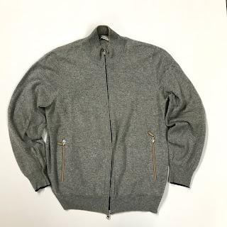 Brunello Cucinelli Grey Cashmere Sweater