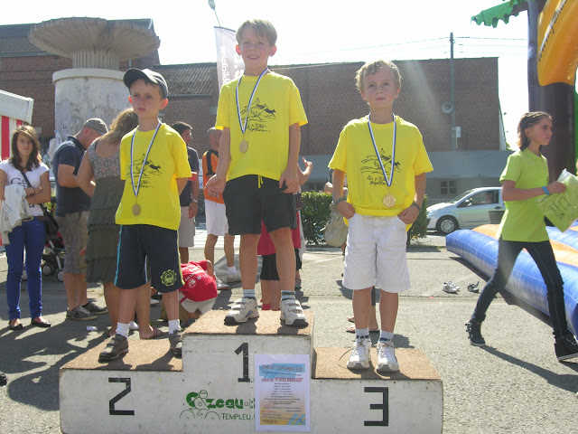 Le podium des 5-6 ans