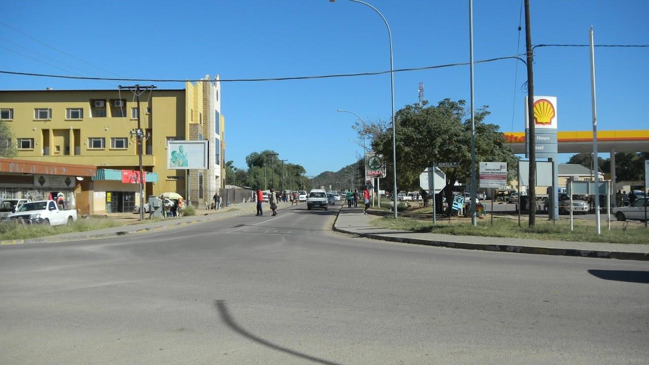 Main shopping area in Mochudi