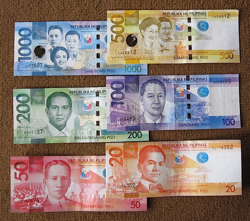 new Philippine Peso bills