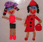 Clay ladies going to town by Cristin
