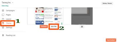 Edit HTML tab
