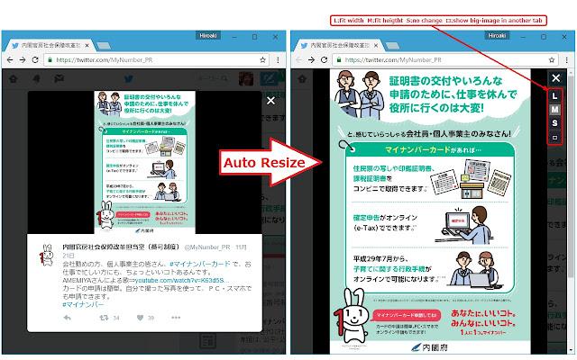 Twitter auto image resizer
