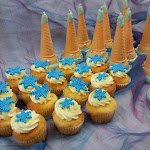 Frozen-themed Princess Party Hats and Cupcakes.jpg