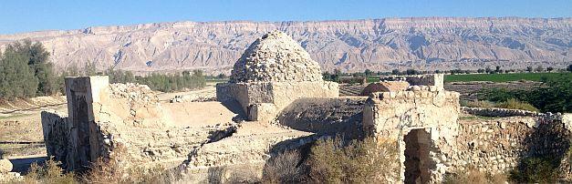 Ruine bei Kohurestan an der Straße Lar - Bandar Abbas, Iran