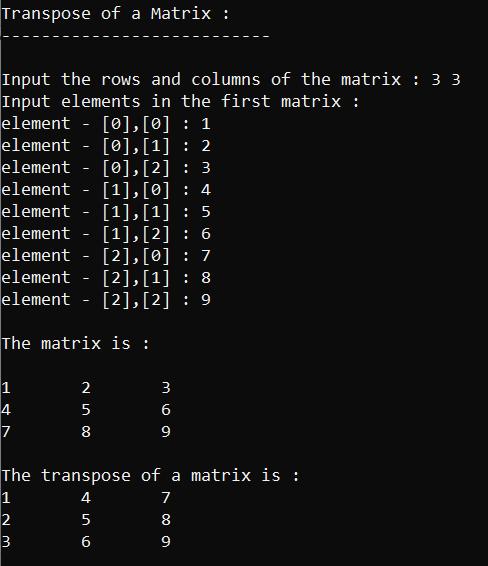 transpose of a matrix,transpose of matrix in c,c program for transpose of a matrix,transpose of matrix,transpose of a matrix in c,matrix transpose in c,transpose of matrix in c programming,c program to find transpose of a matrix,program to transpose a matrix in c,c program to transpose a matrix,c program to find the transpose of a given matrix,write a c program to print the transpose of a matrix,transpose,transpose of matrices,transpose of a matrix in c++,transpose of a 3x3 matrix in c