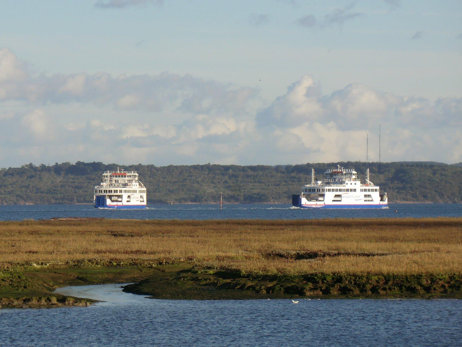CIMG5150 Wightlink ferries crossing the Solent