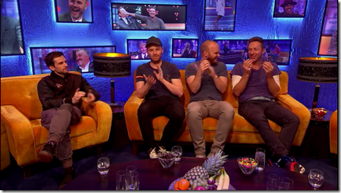 The Jonathan Ross show Coldplay Simon Pegg13