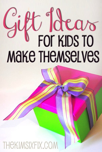 Gift Ideas That Kids Are Able Make Themselves. Since every child likes to give presents to friends and family, especially if they have made them with their own hands.