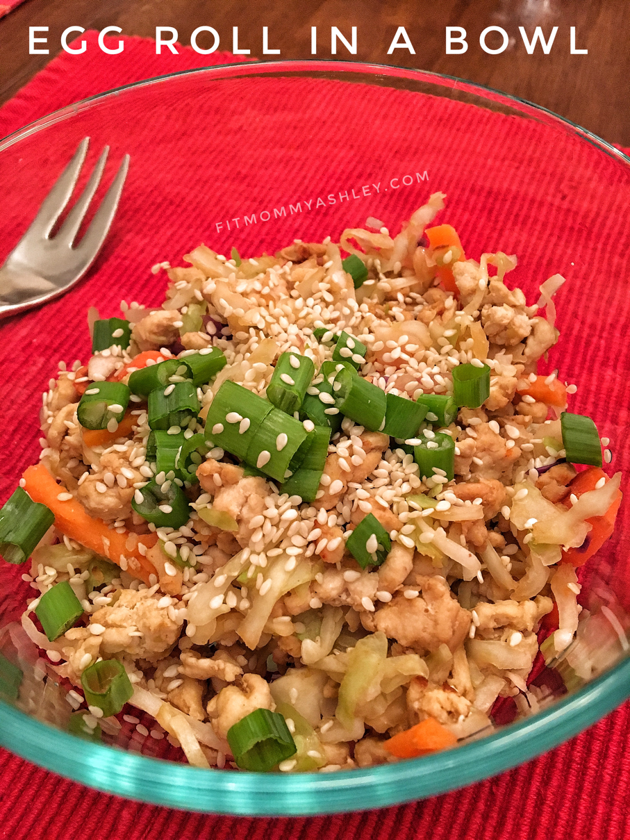 egg roll, in a bowl, healthy, clean, 80 Day Obsession, 21 Day Fix, easiest, delicious, low carb, coconut aminos