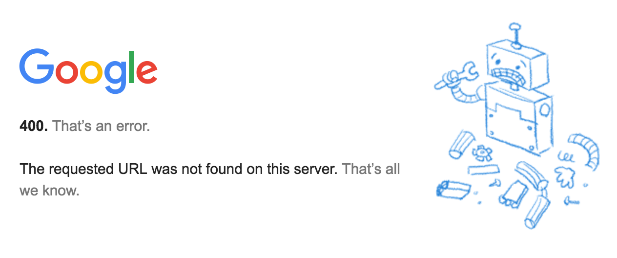 Error 400 for Hangouts in Gmail - Hangouts Help