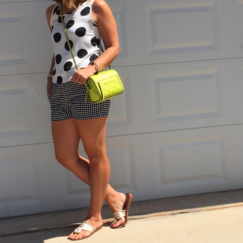 how to pattern mix, polka dots, preppy style, jack rogers, kate spade