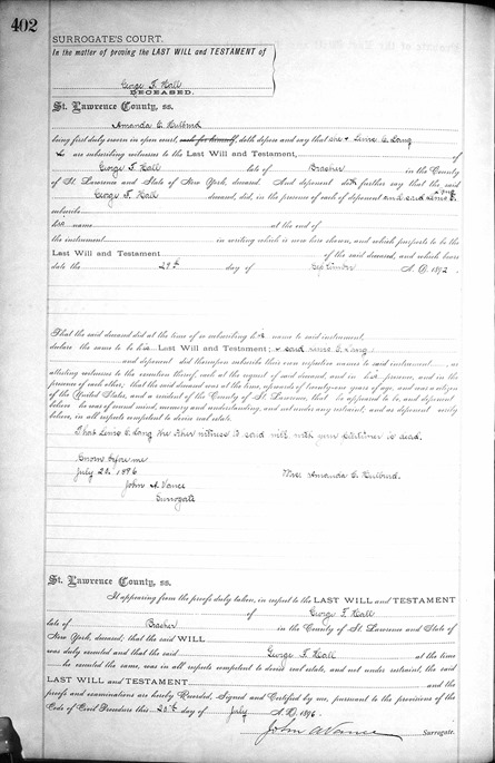 HALL_George F_will_Jul 1896_pg 2 of 2