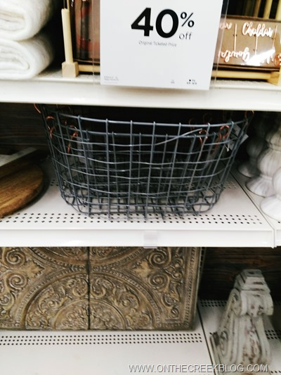 Wire baskets & corbels