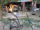 Shops on the roadside outside Amarpurkashi
