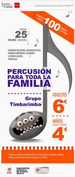 Percusión para toda la familia en concierto
