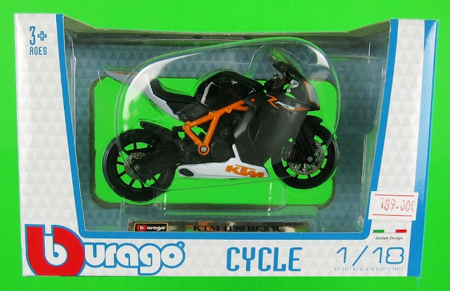 Sản phẩm KTM 1190 RC8 RDieCast Motorcycle Model Scale 1:18 BBurago
