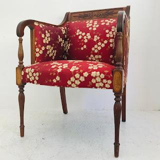 Mahogany Cherry Blossom Armchair #1