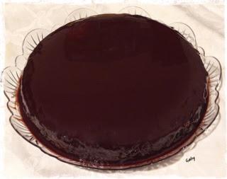 crazy vegan cake con glassa al cioccolato