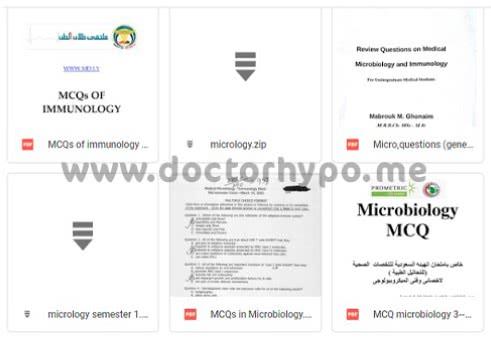 بنك اسئلة ميكروبيولوجي pdf