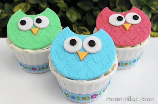 Cupcake de Búho o Lechuza
