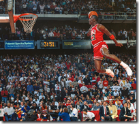[basketball dunking]