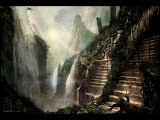 Waterfalls Of Ancient Land