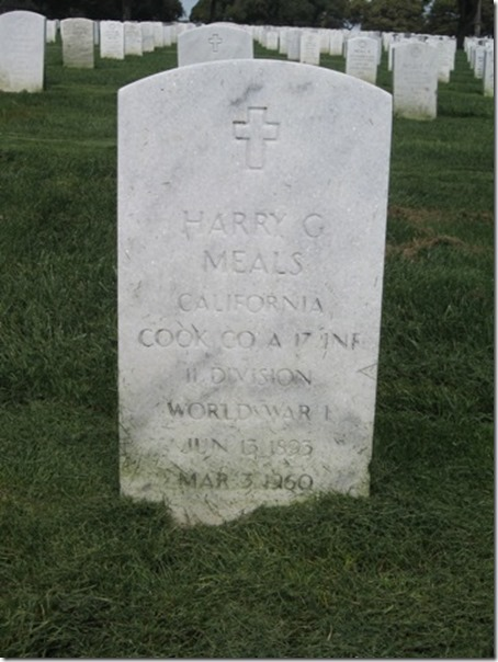 Harry Meals Headstone