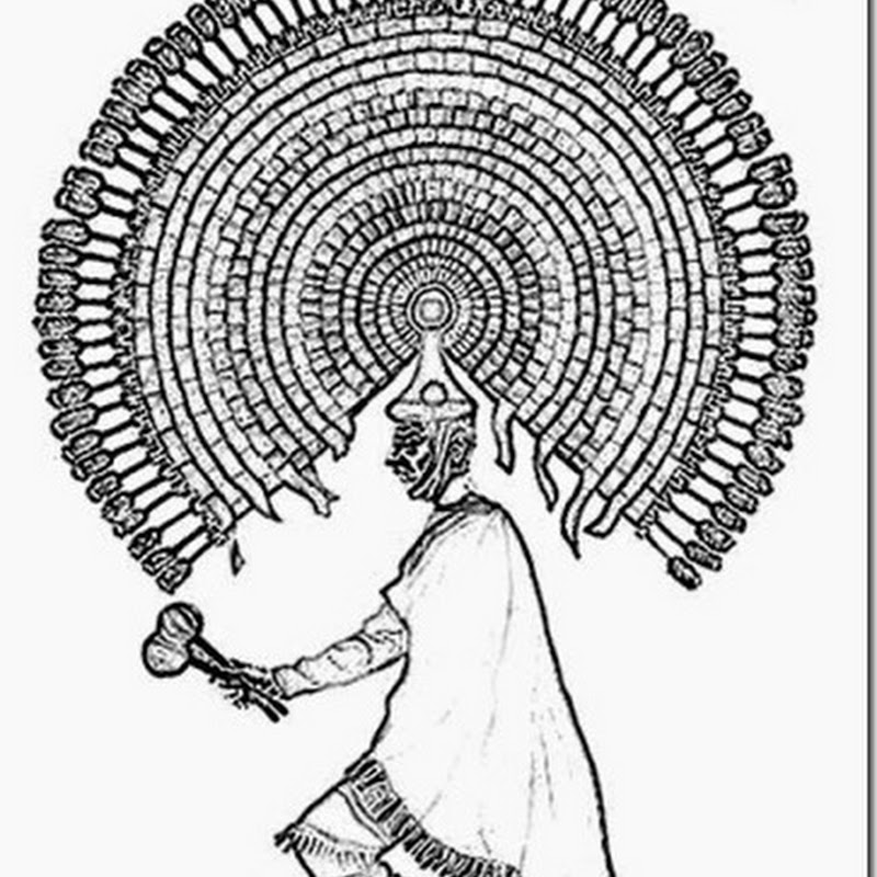 dibujos para colorear danza de Quetzales