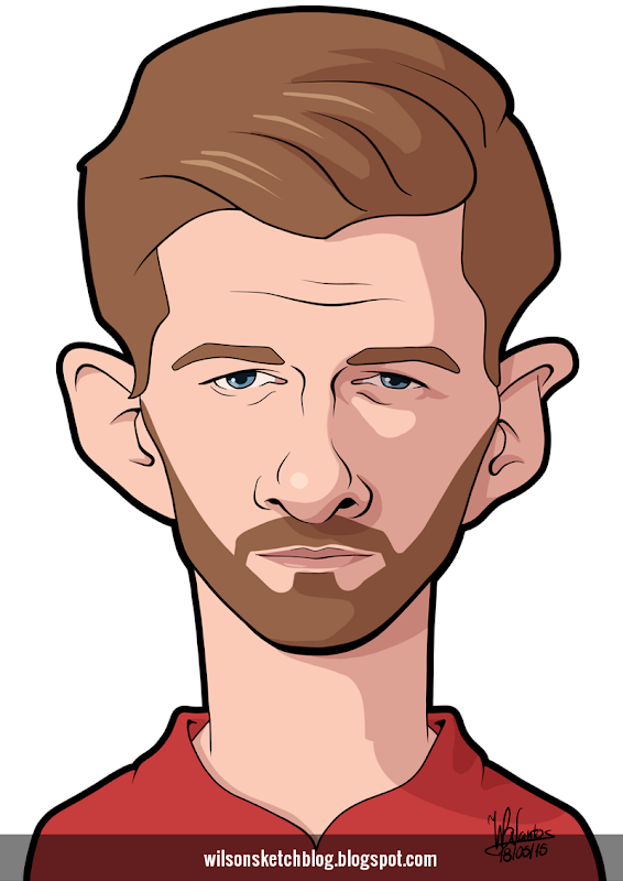 Cartoon caricature of Steven Gerrard.