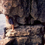 1968.07.30 Swanage, Paul Wallace on Nutcracker Traverse.jpg