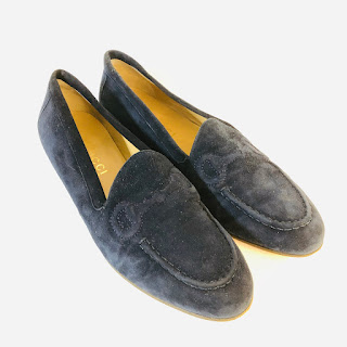 Gucci Navy Suede Loafers