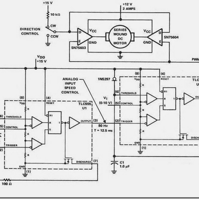 pwm pulse width modulation simple circuits diagram