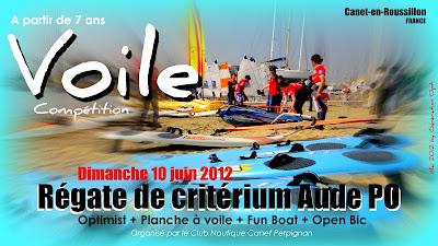 Régate Voile Optimist école_de_sport Canet_en_Roussillon Opti Critérium