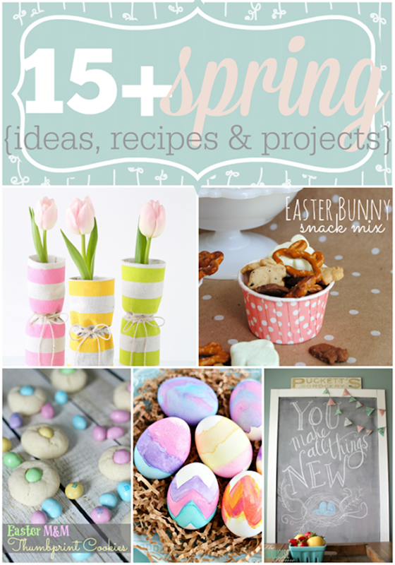 Over 15 Spring Ideas, Recipes & Projects featured at GingerSnapCrafts.com #linkparty #features #spring[5]