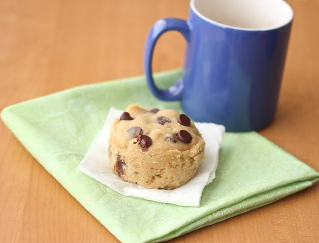 photo of a chocolate chip cookie on a napkin
