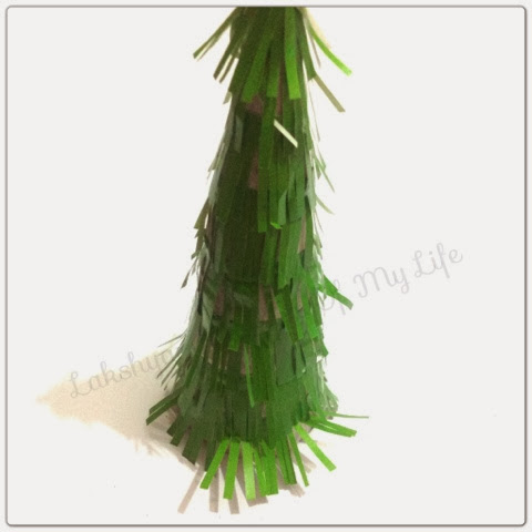 Lakshya the aim of my life christmas tree craft for Where can i buy a red christmas tree