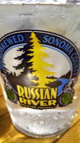 Make sure you stay hydrated with water while tasting beers at Russian River Brewing Company in Santa Rosa, CA